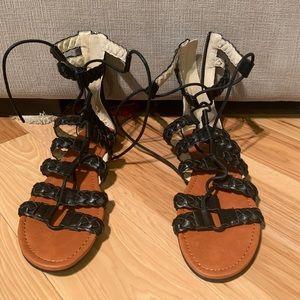 Black gladiator sandals!
